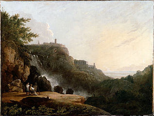 View of Tivoli: the Cascatelle and the Villa of Maecenas