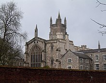 Medieval stone church at Winchester College