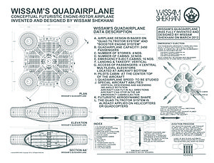 Wissam's Quadairplane (invented by Wissam Shekhani on March 2012).jpg