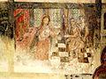 Wissous (91), église Saint-Denis, bas-côté, fresque de sainte Barbe, 5e tableau.jpg
