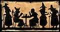 Witches; five silhouetted figures. Wellcome V0048920.jpg
