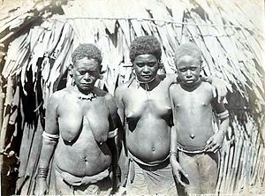 Women of Ferasibor, Malaita, Solomon islands. ...