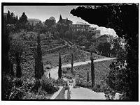 Women on path, buildings in background, American University, Beirut LOC matpc.06115.jpg