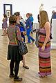 Women socializing at Wikimania 2015 Museo Soumaya reception.jpg