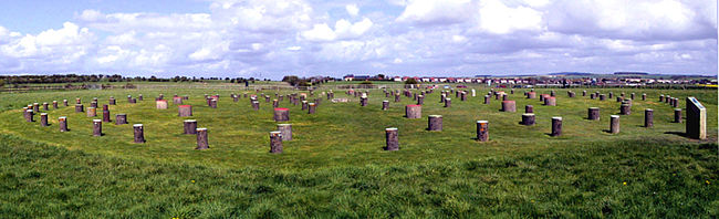 Panorama view of the complete Woodhenge site.