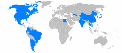 World locations of General Motors factories