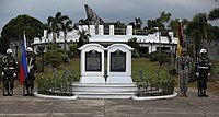 Wreath laying ceremony at the Pangatian War Memorial 140510-A-KH064-260
