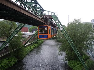 Wupper - The suspension railway over the Wupper in Wuppertal.