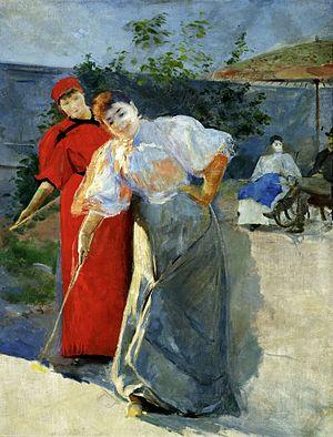 Croquet - Leon Wyczółkowski, A Game of Croquet (1892-1895), National Museum, Warsaw