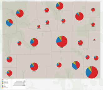 United States presidential election in Wyoming, 2016 - Image: Wyoming 2016 presidential results by county