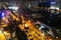 Yuen Wo Road roadblock fire 20191004.jpg