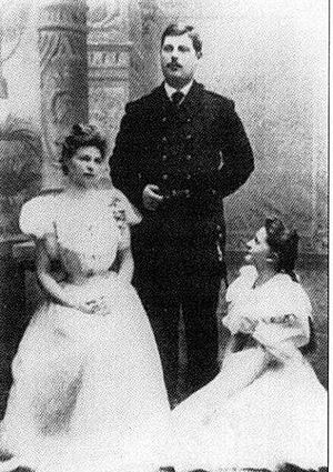 Prince George Alexandrovich Yuryevsky - George with his sisters Olga and Catherine