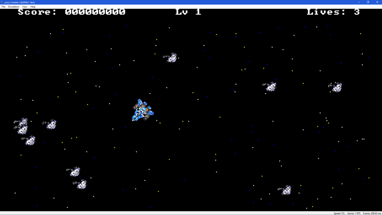File:Yuzu Emulator In Action (Space Game by vgmoose) png