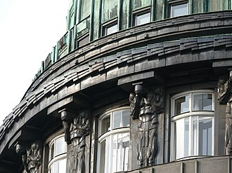 Franz Metzner - Image: Zacherlhaus wanzenburg atlant franz metzner