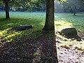 Zicht op kransstenen van hunebed D17 langs bosrand,--Archeoregio 1 - Rolde - 20425887 - RCE.jpg