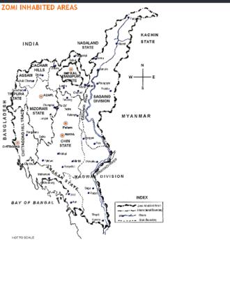 Zo people - Zomi inhabited areas