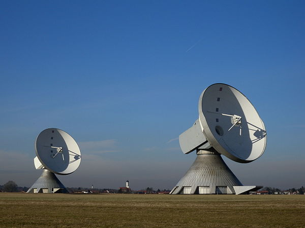 Satellite dishes at Erdfunkstelle Raisting, Germany