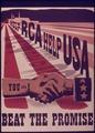 """Help RCA Help USA...You and I...Beat the Promise"" - NARA - 514464.tif"