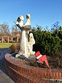 """Macierzyństwo"" ('Maternity') Sculpture in Gliwice with sign of Women's Strike in 2020, December 2020.jpg"
