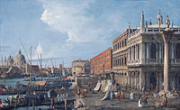'The Molo, Venice', oil on canvas painting by Canaletto.jpg