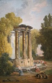 'The Washer Women' by Hubert Robert, Cincinnati Art Museum.JPG