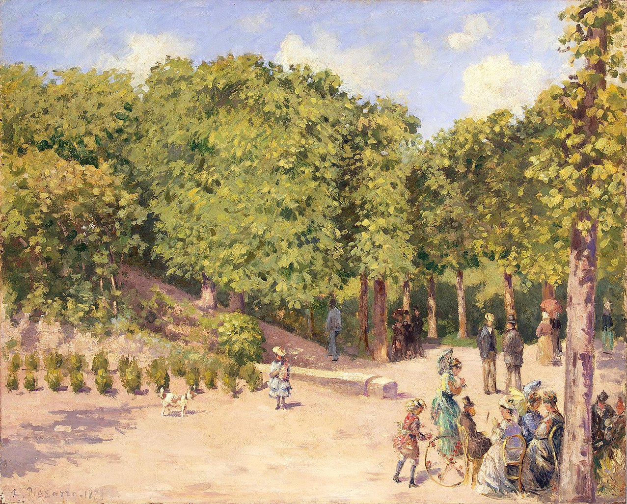 File 39 town park in pontoise 39 by camille pissarro 1873 for Park towne