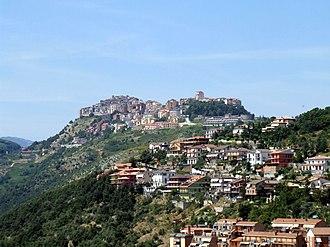 Bellegra - Bellegra seen from Olevano Romano.
