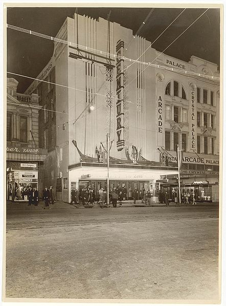 File:(Exterior, Century Theatre, Sydney (and Crystal Palace Arcade)) n.d. by Sam Hood (6873712682).jpg