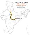 (New Delhi - Bilaspur) Rajdhani Express Route map.png