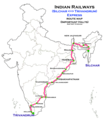 (Silchar - Trivandrum) Express route map.png
