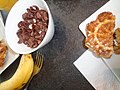 (a banana, a waffle breakfast cereal with milk).jpg