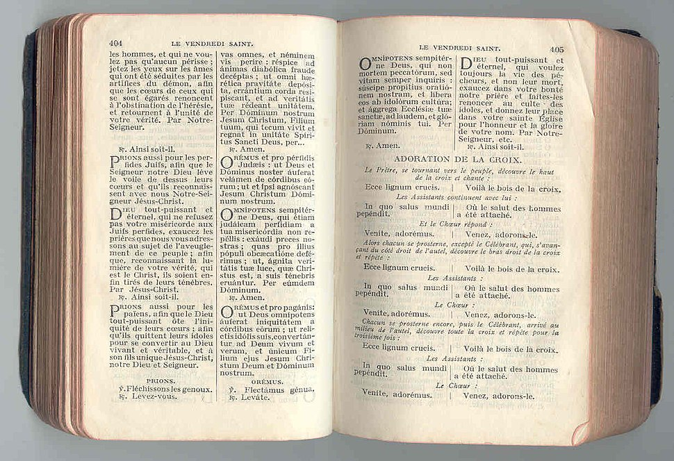 « Oremus et pro perfidis Judaeis »