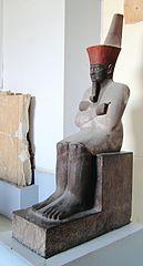 Schwarze Sitzstatue des Mentuhotep II.