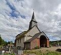 Église Saint-Paul de Courtonne-les-Deux-Églises. Vue nord-ouest.jpg