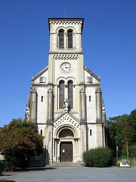 A church in Saint-Martin-d'Hères in France.