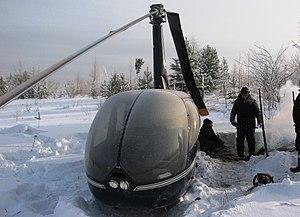 Авиапроисшествие - жесткая посадка вертолета Robinson Helicopter R44 (бортовой номер RA-04145).JPG