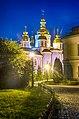 Михайлівський Золотоверхий монастир ввечері, вид з двору.jpg