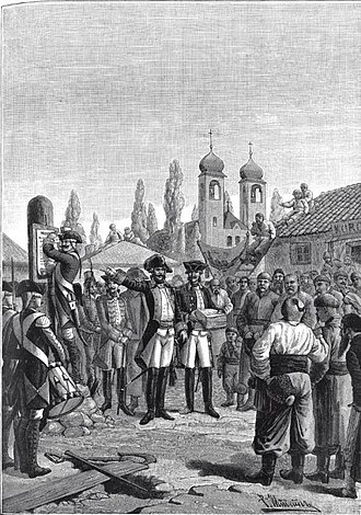 Mikhail Krechetnikov - General Krechetnikov declares the manifest of Catherine the Great to Volhynians and Podolians (Partitions of Poland)