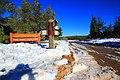 שלג בכניסה לפארק בגין לאחר סערת השלגים בחודש דצמבר 2013.jpg