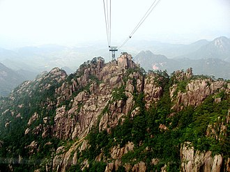Huangshan - View from a cable car