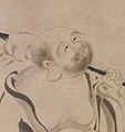 布袋図 拄杖擊破三千界。彌勒撫掌笑呵呵,明月清風無。」-Hotei MET DP135207.jpg