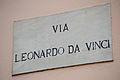 -Via Leonardo Da Vinci- a Street Sign inPisa, Tuscany, Central Italy.jpg