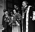 00155-123; Jean Batten being welcomed by Mayor T C A Hislop - Oct 1936.jpg