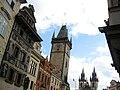 017 Staroměstské Náměstí, torre de l'Ajuntament i església de Týn.jpg