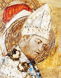 01 Clément VI (Fresque de la chapelle Saint-Martial du palais des papes)