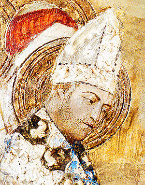 Matteo Giovanetti - Detail of Clement VI as Saint Martial