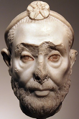 Manetho - Head of an anonymous priest of Serapis. Plutarch linked Manetho with the Ptolemaic cult of Serapis. Altes Museum, Berlin.
