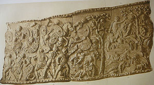 Trajan's Column - Battle scene between the Roman and Dacian armies