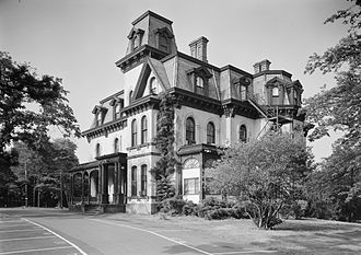The Culinary Institute of America - The Davies mansion at the time of its occupancy by the CIA