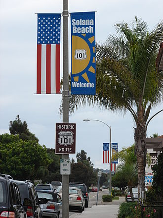 U.S. Route 101 - Historic Route 101 in Solana Beach